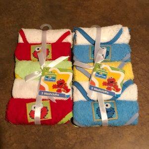 Other - NWT Set of 10 Sesame Street Washcloths